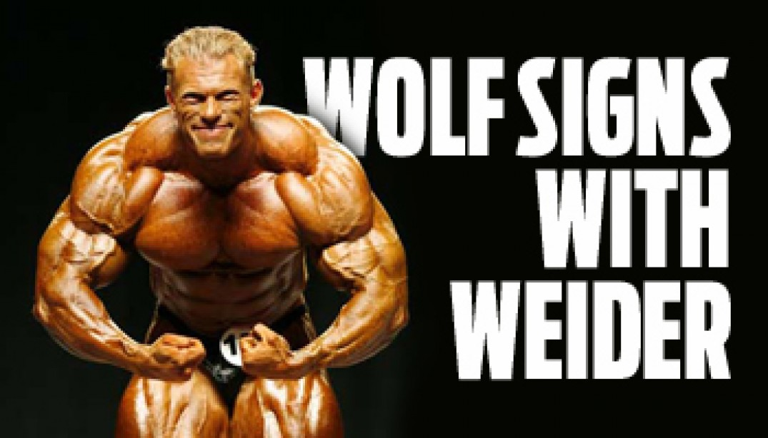WOLF SIGNS WITH WEIDER
