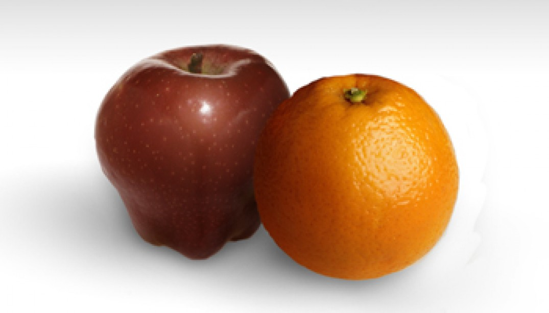 APPLES VS. ORANGES