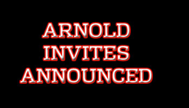 ARNOLD INVITES ANNOUNCED