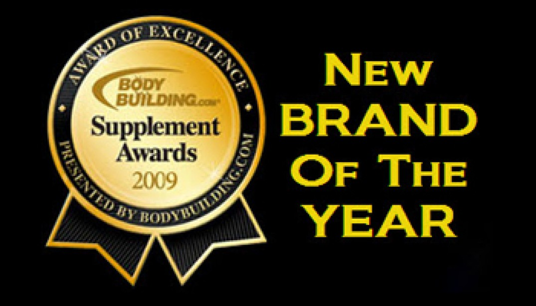 BODYBUILDING.COM BEST NEW BRAND OF THE YEAR