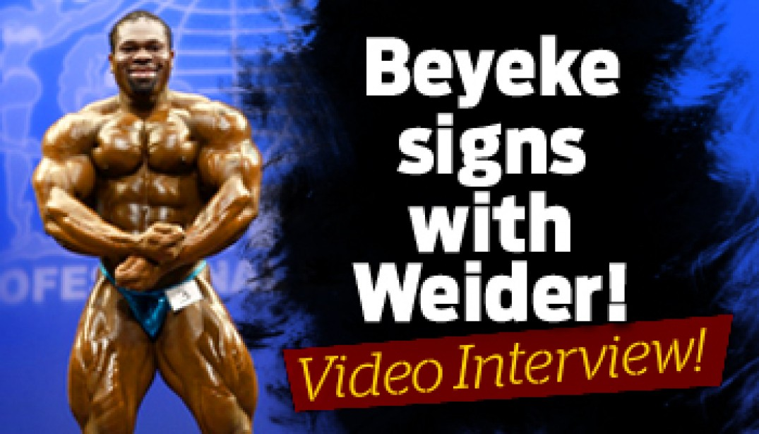 BEYEKE SIGNS WITH WEIDER!