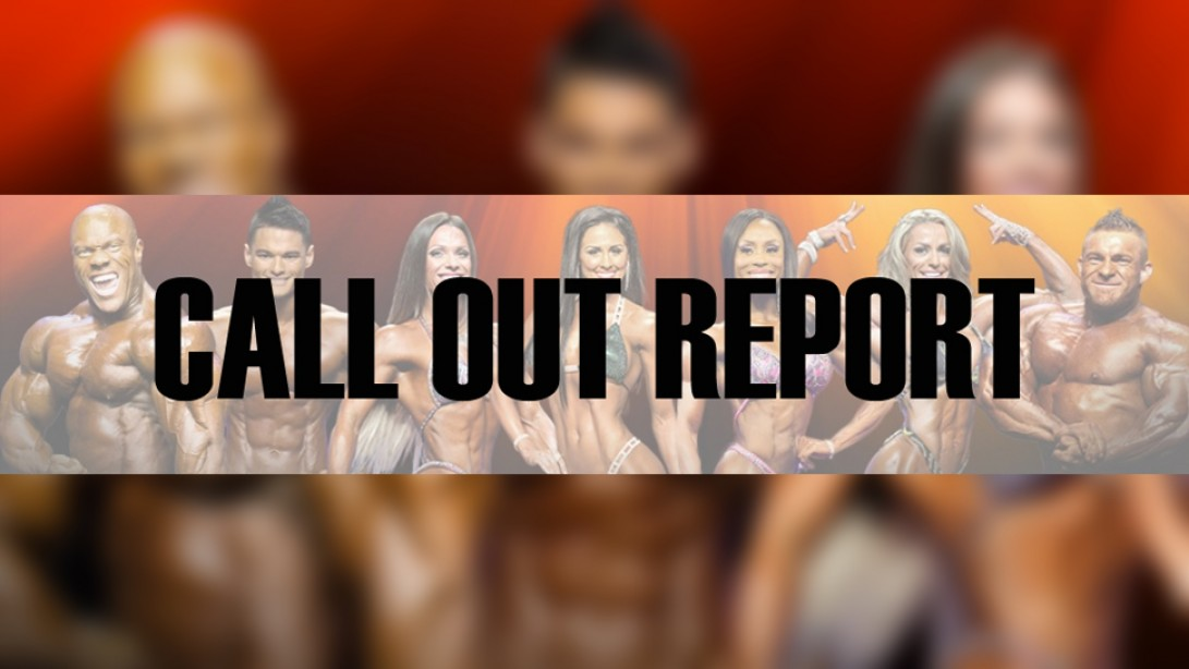 2016 IFBB New York Pro Pre-Judging Call Out Report