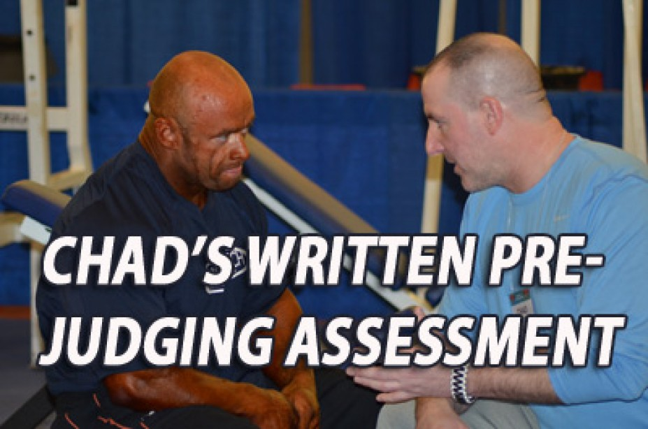 Chad Nicholls Assess the 2012 Arnold Prejudging