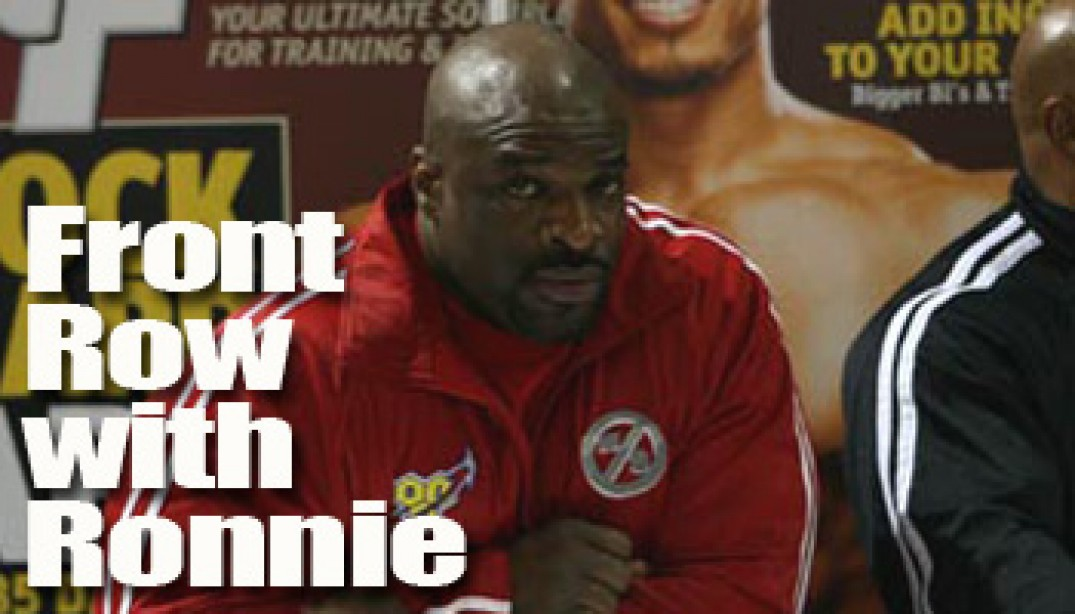 BSN PRESENTS: FRONT ROW WITH RONNIE