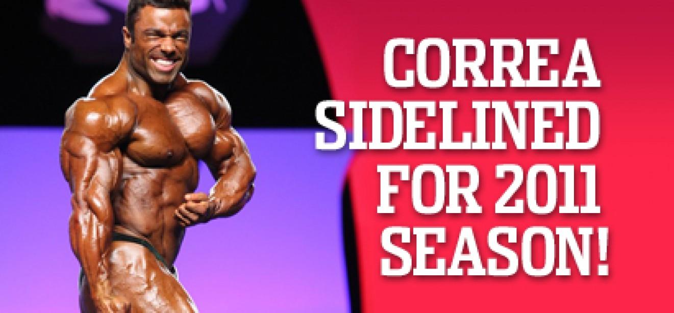 CORREA SIDELINED FOR 2011 SEASON!