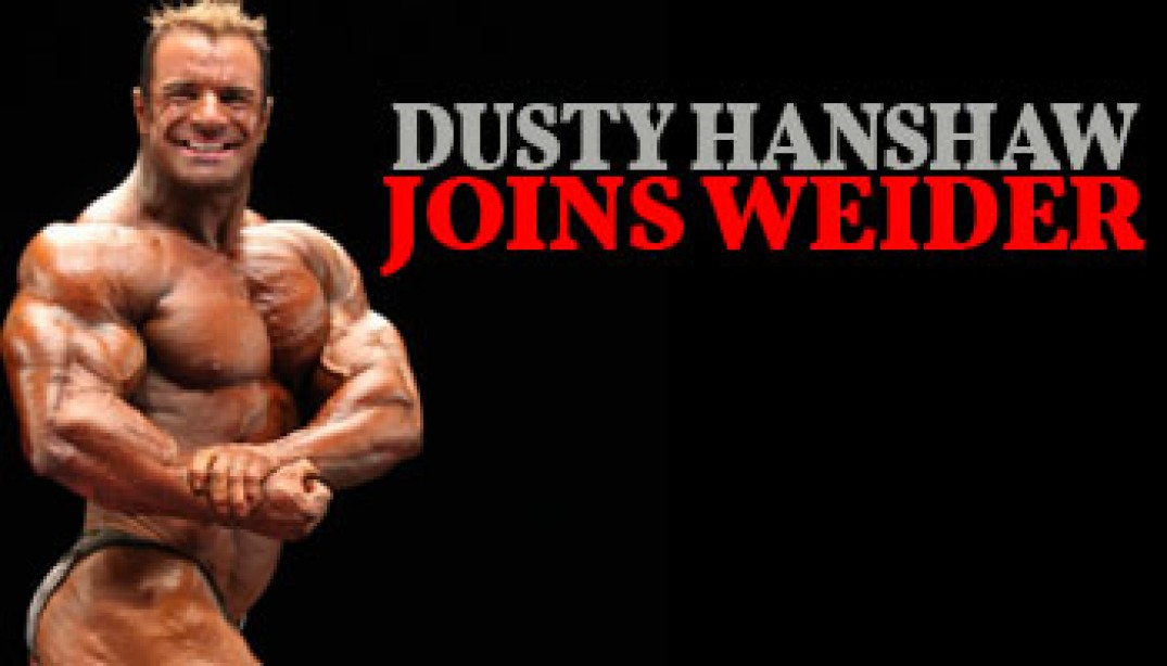 Dusty Hanshaw Signs with Weider/AMI