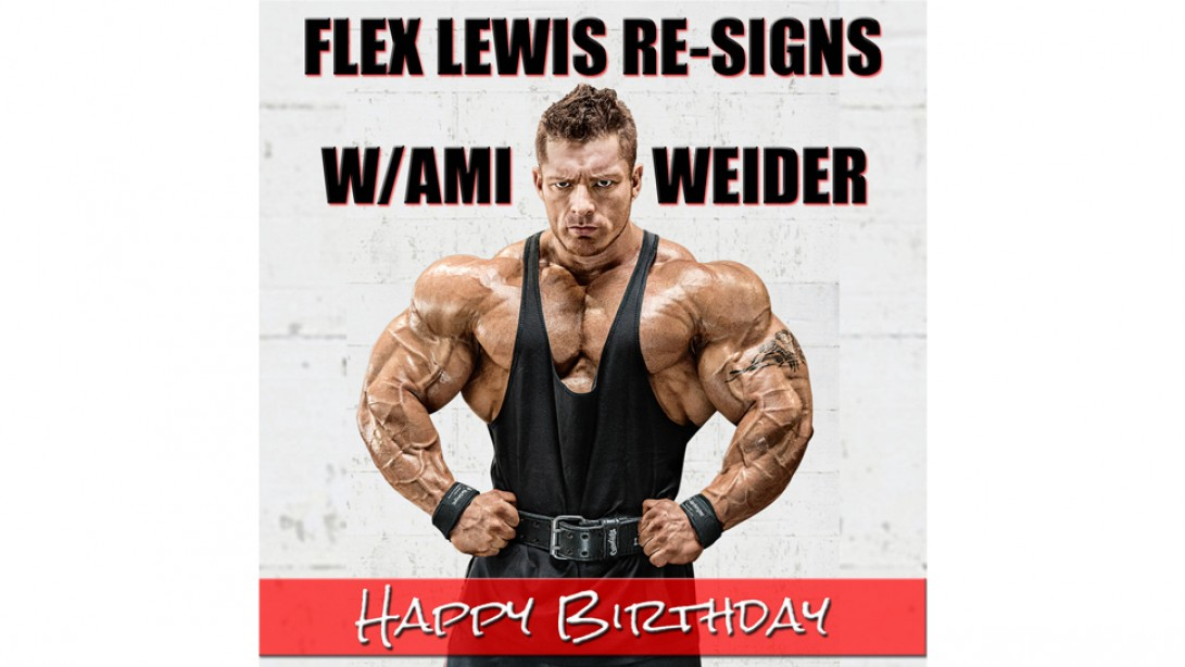 Flex Lewis Re-Signs with AMI/Weider