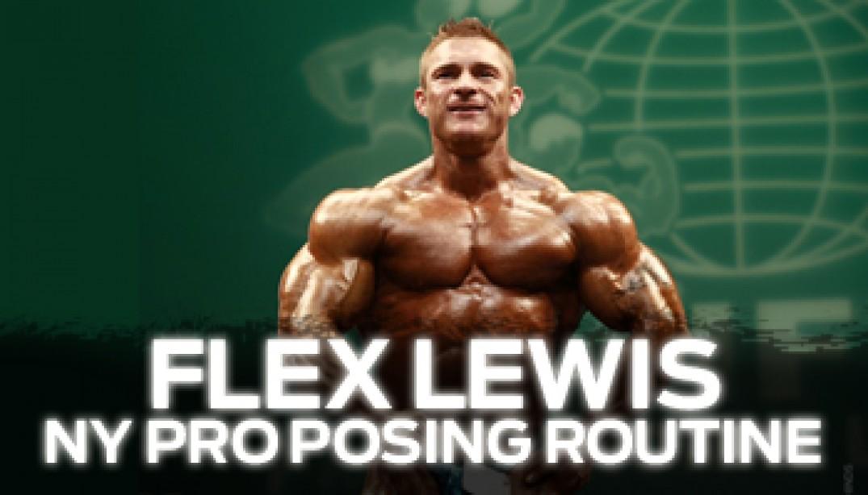 FLEX LEWIS' POSING ROUTINE
