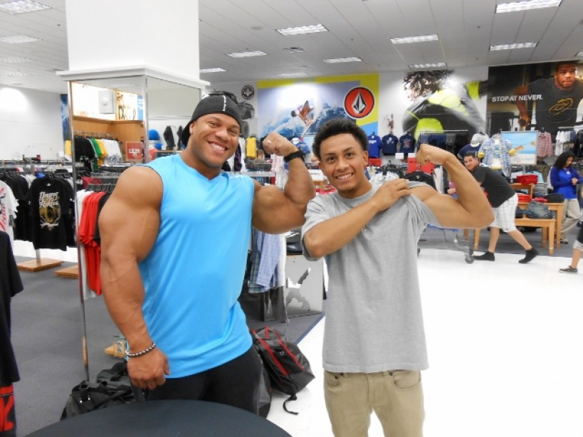 2011 Mr. Olympia Phil Heath Makes Special Appearance  at Camp Pendleton Marine Corps Base