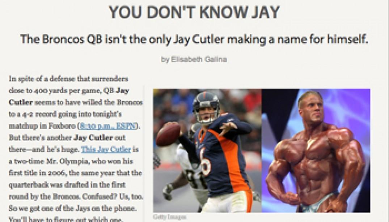 JAY CUTLERS ON ESPN.COM