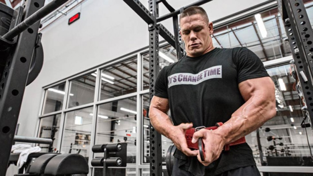 John Cena Squats a Personal Best 595 Pounds