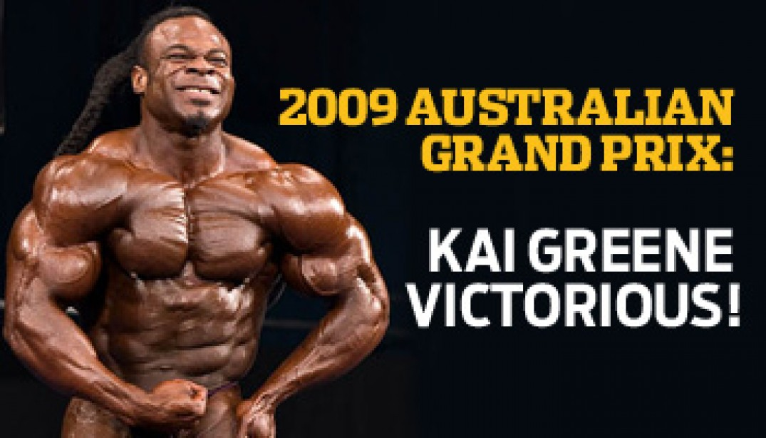 2009 AUSTRALIAN GRAND PRIX: KAI GREENE VICTORIOUS