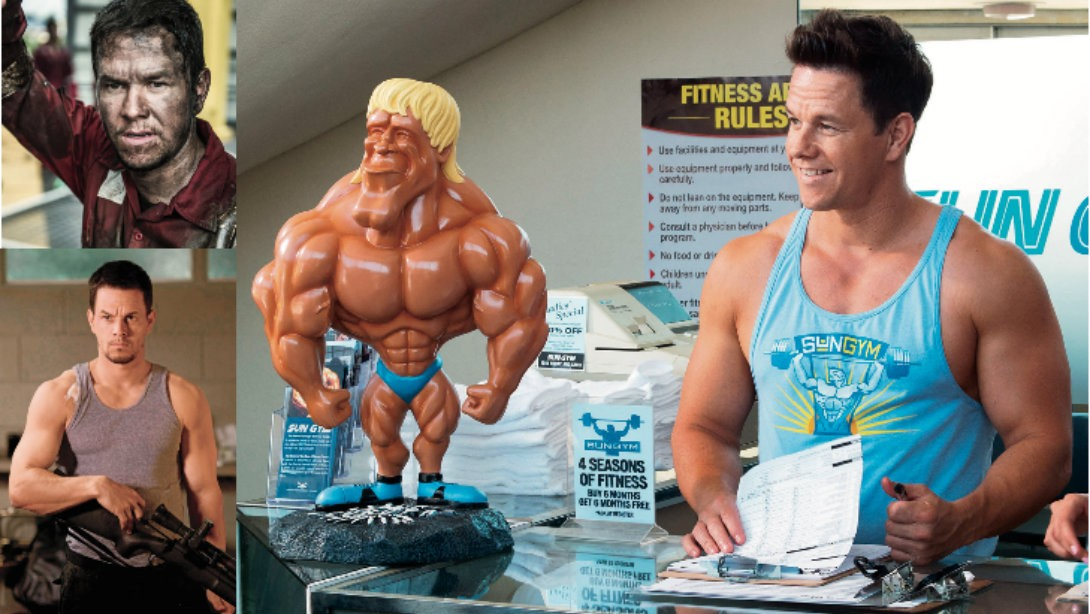 Mark Wahlberg Flexes His Muscles on and Offscreen