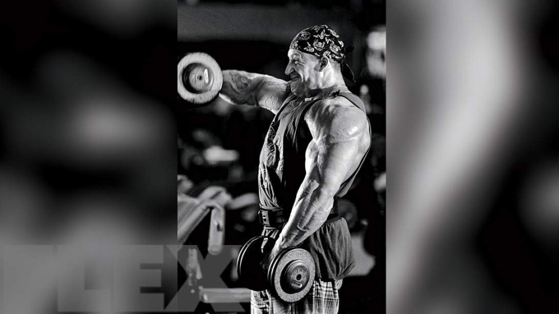 Dorian Yates' Expert Advice on Front Dumbbell Raises