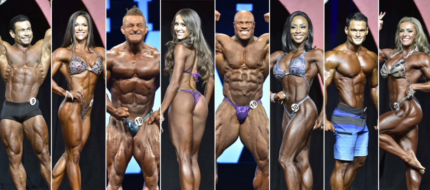 2017 Olympia Official Competitor Lists