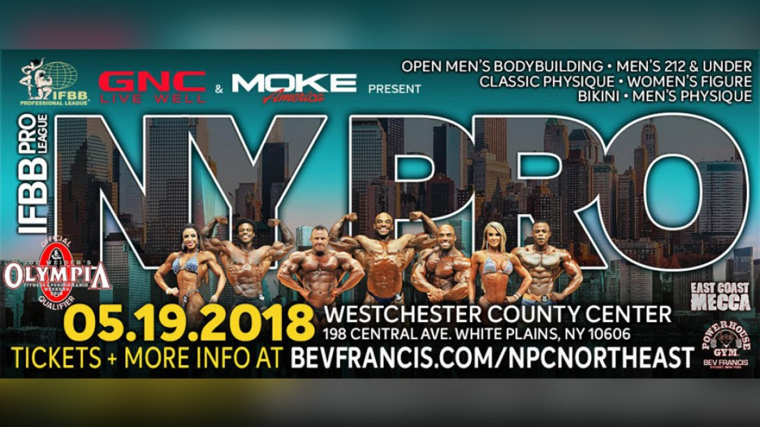 2018 IFBB New York Pro Official Competitor Lists