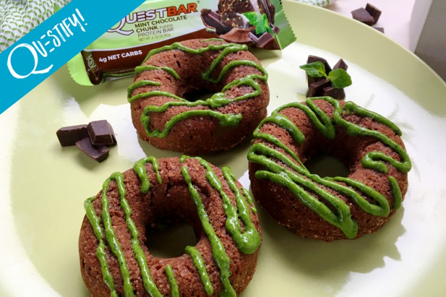 RECIPE: High Protein Mint Chocolate Donuts
