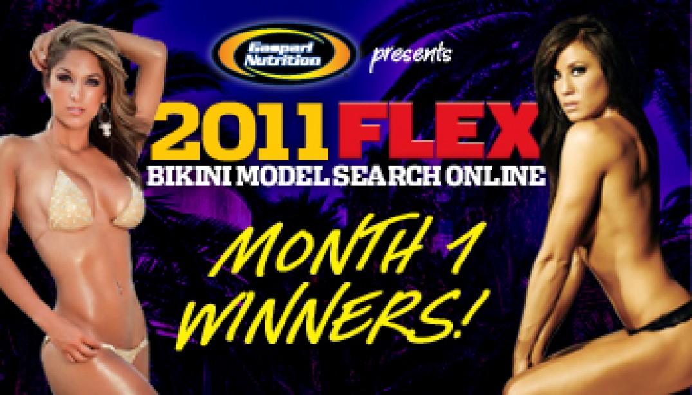 FLEX BIKINI MODEL SEARCH ONLINE MONTH ONE WINNERS!