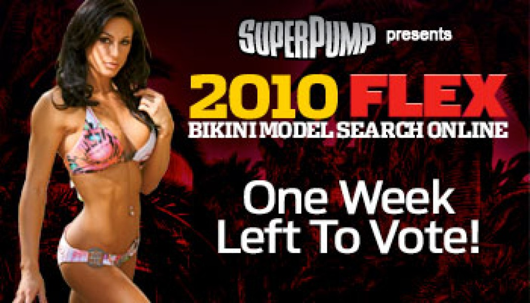 HURRY! ONE WEEK LEFT TO VOTE!