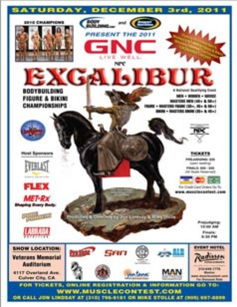 NPC Excalibur Set for Saturday!