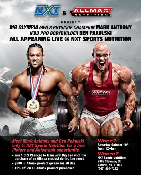 Meet Mark Anthony and Ben Pakulski and Win Allmax Products!