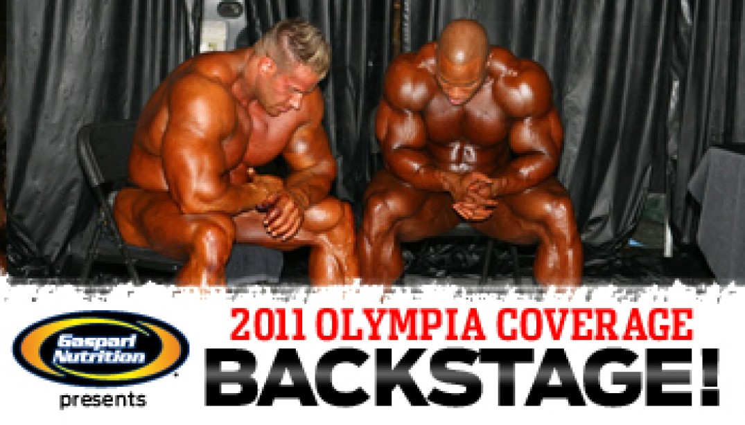 OLYMPIA BACKSTAGE VIDEO - THE GUYS