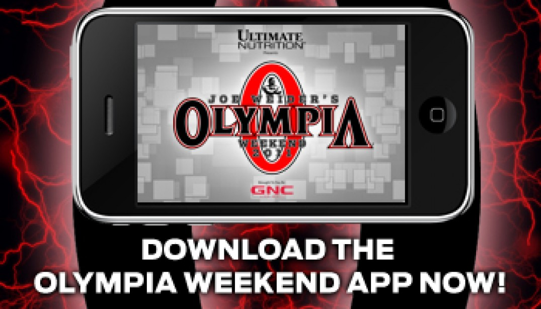DOWNLOAD THE OLYMPIA WEEKEND APP!