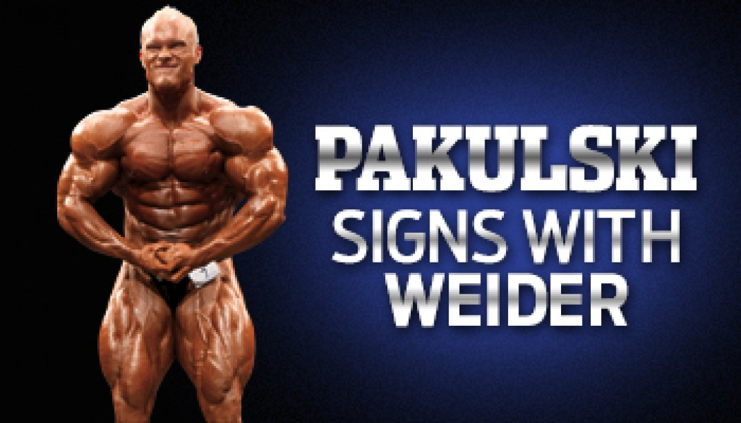 PAKULSKI SIGNS WITH WEIDER