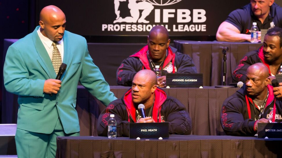 Phil Heath Is On Fire at the 2015 Mr. Olympia Press Conference