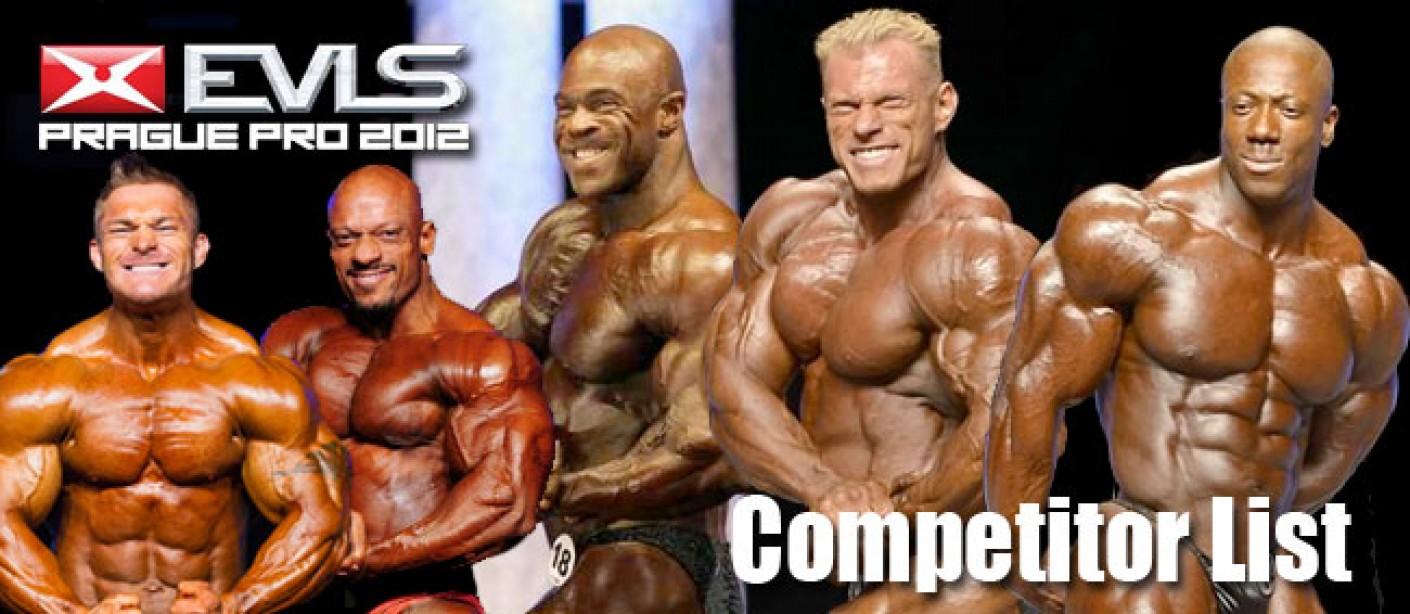 Prague Pro 2012 Competitor List Announced