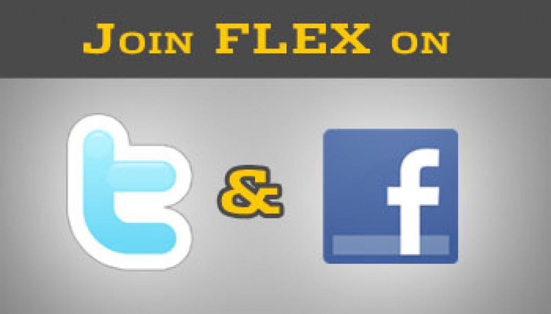 JOIN FLEX ON TWITTER & FACEBOOK