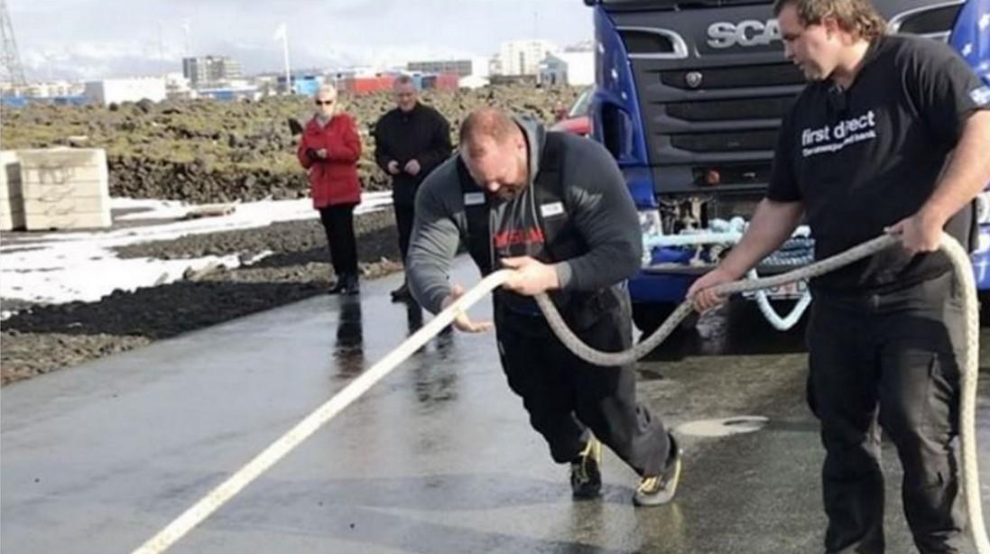 Watch: Hafþór Björnsson Pulls a Truck