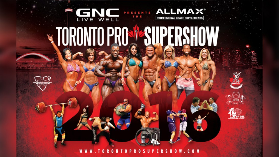 2016 IFBB Toronto Pro Supershow Official Competitor Lists