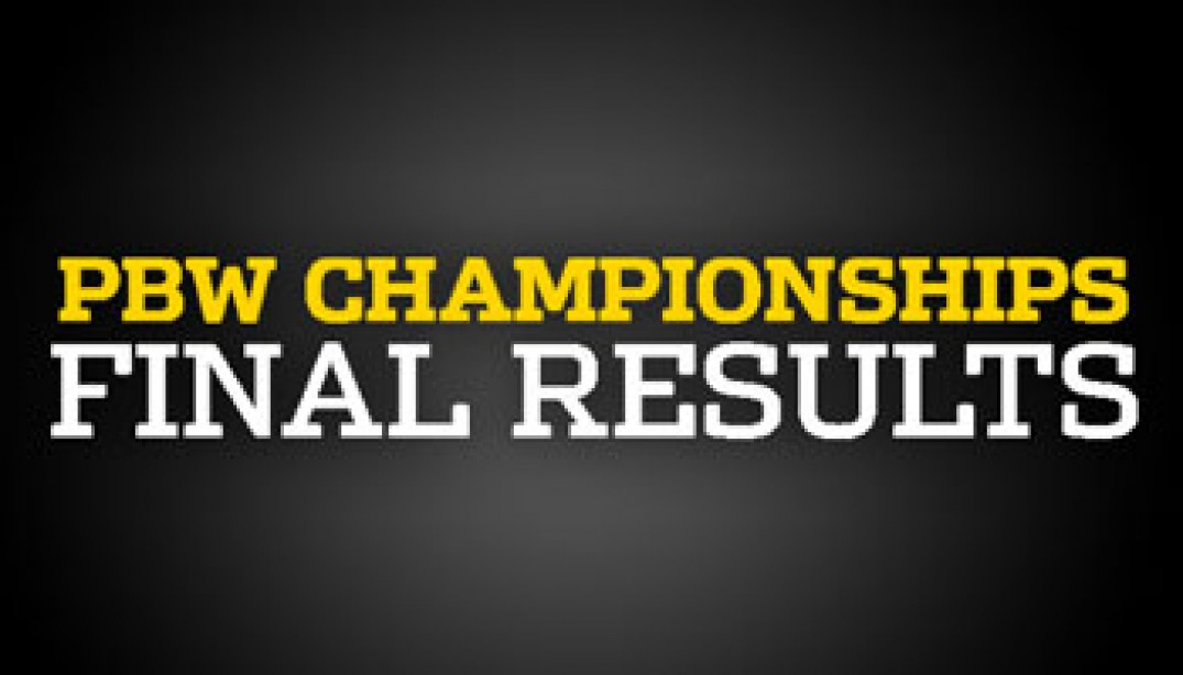 PBW Championships FINAL RESULTS & GALLERIES!