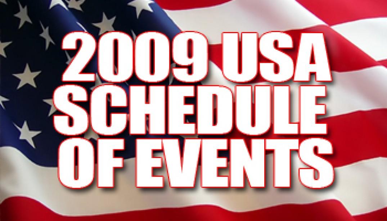 2009 NPC USA SCHEDULE