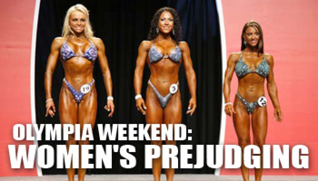 2008 OLYMPIA WEEKEND: WOMEN'S PREJUDGING