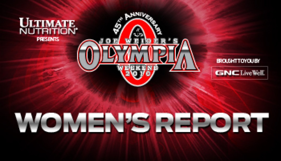 2010 OLYMPIA WOMEN'S PRE-JUDGING REPORT & GALLERIES