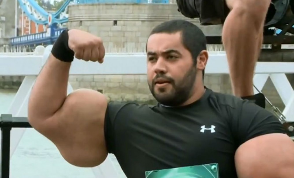M&F's Challenge to Guinness' Largest Biceps World Record Holder