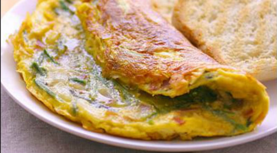 10 Minute Meal: Ham and Broccoli Frittata
