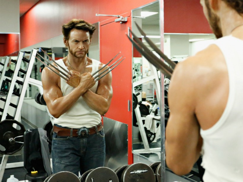 Hugh Jackman Wolverine at Gym