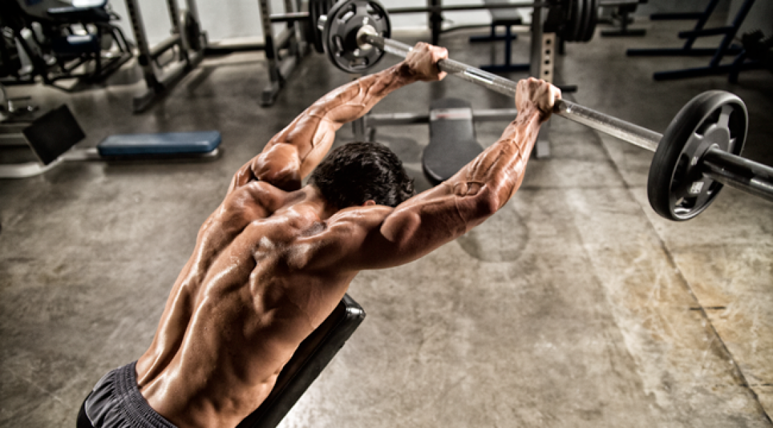Incline Barbell Front Raise