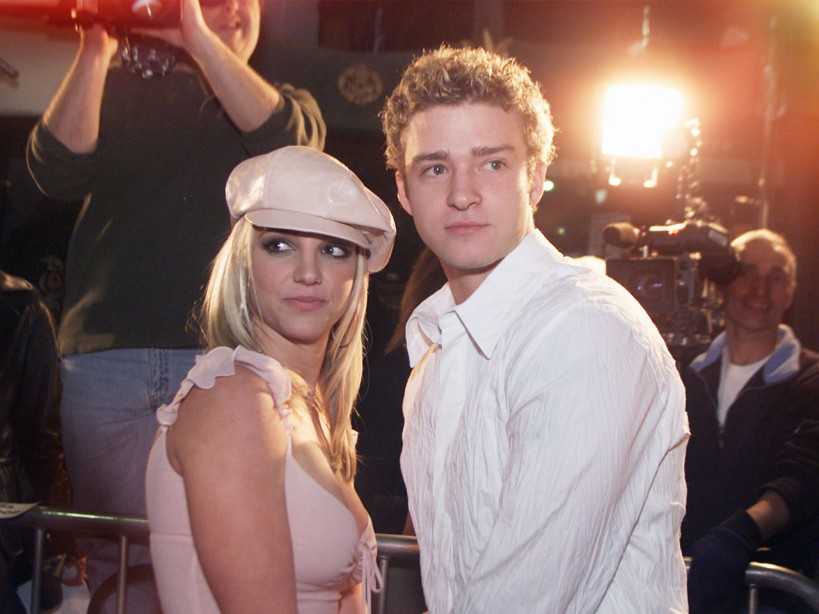 Britney Spears and Justin Timberlake attend the Crossroads premiere