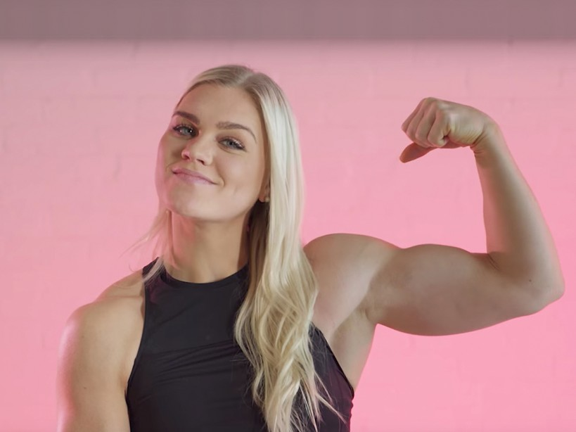 Dating a muscular woman