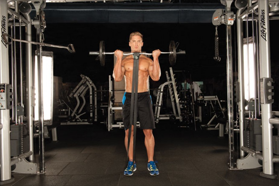 Gym Fix - Banded Barbell Curl