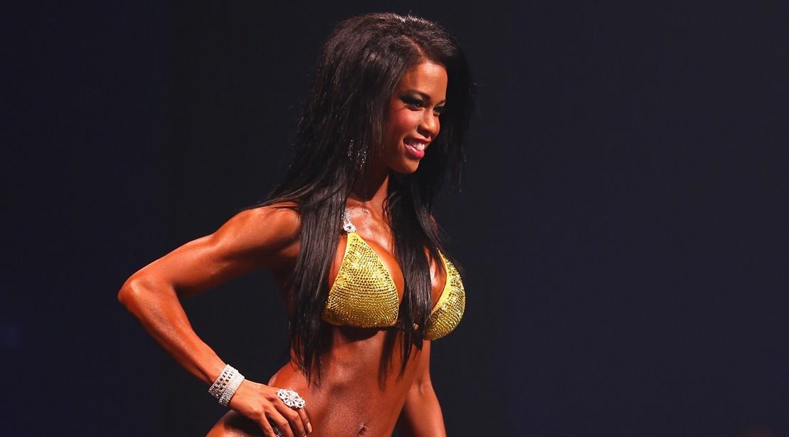 : India Paulino of the USA poses in the Women's Bikini