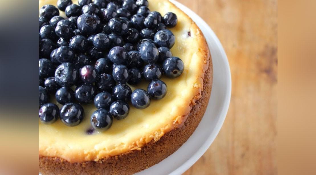 Blueberry Protein Cheesecake
