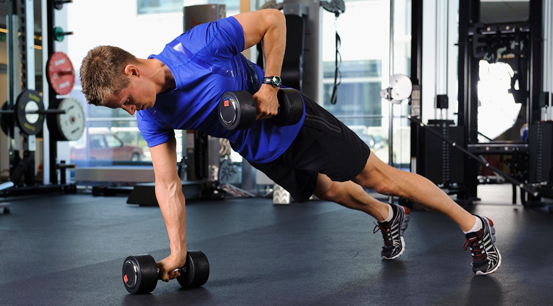 Image result for Dumbbell Pushup to Triceps Kickback