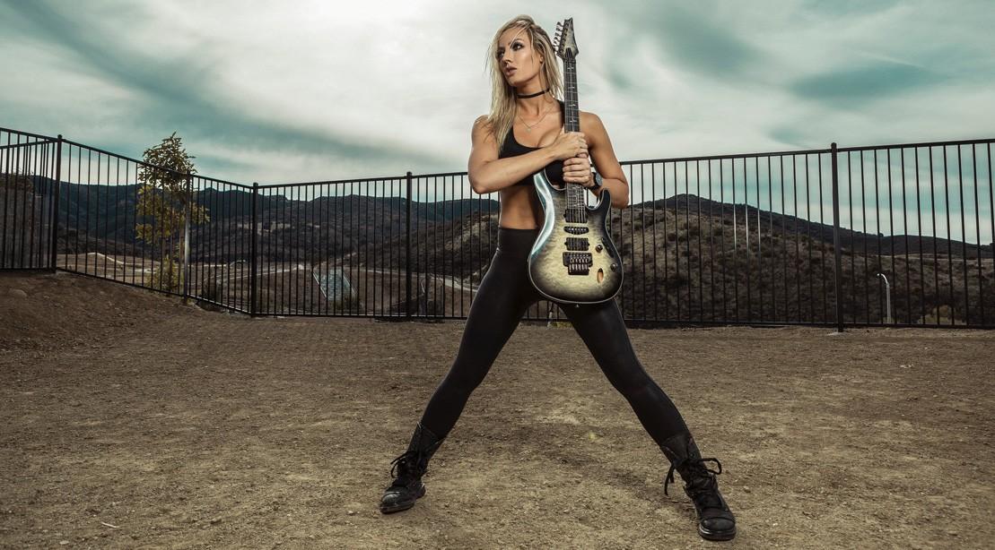 Badass guitarist Nita Strauss talks about fitness, sobriety and her upcoming album