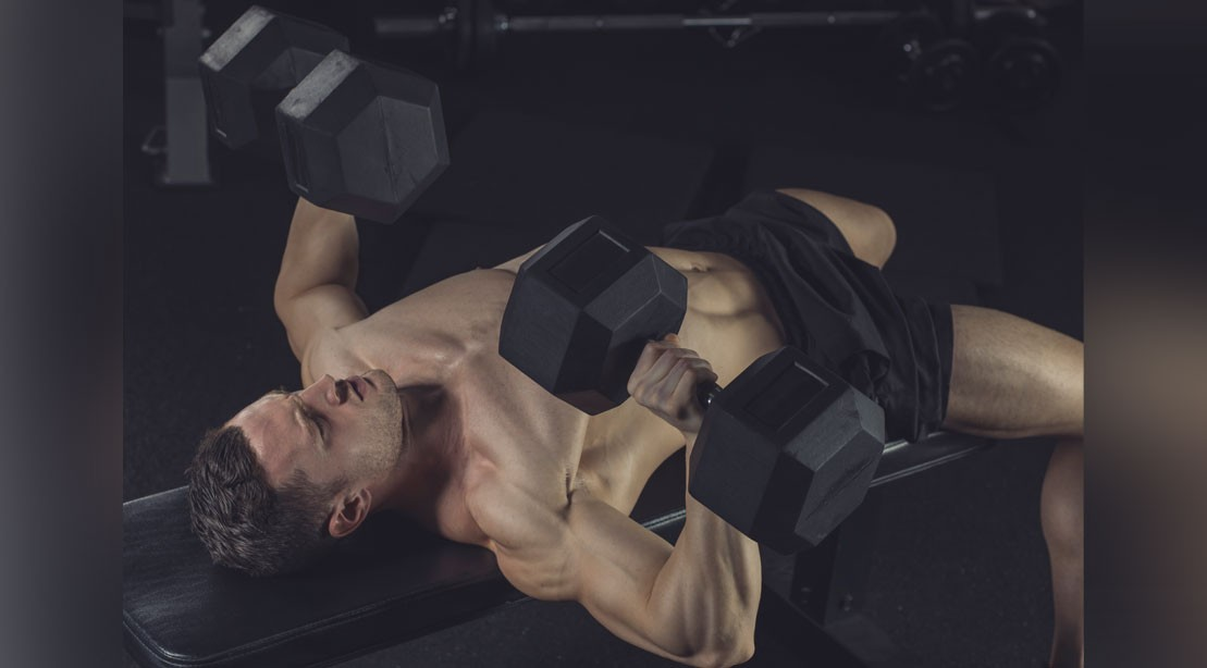 1109 alternating dumbbell bench press