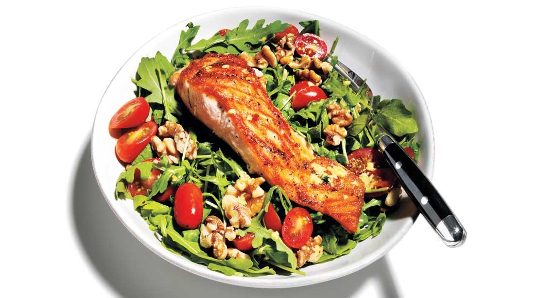 Arugula Salad With Salmon